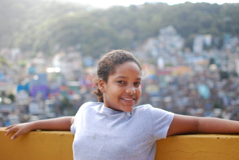 Luma is eleven years old. Her favorite school subjects are english and theatre. Her dream is to become an actress and be on television. She also enjoys taking photos and going to the beach.