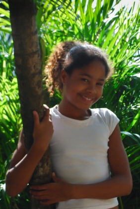 Estefani is eleven years old. Her favorite class is science and in her free time she likes to play on the computer. She wants to be an actress in a soap opera when she grows up.